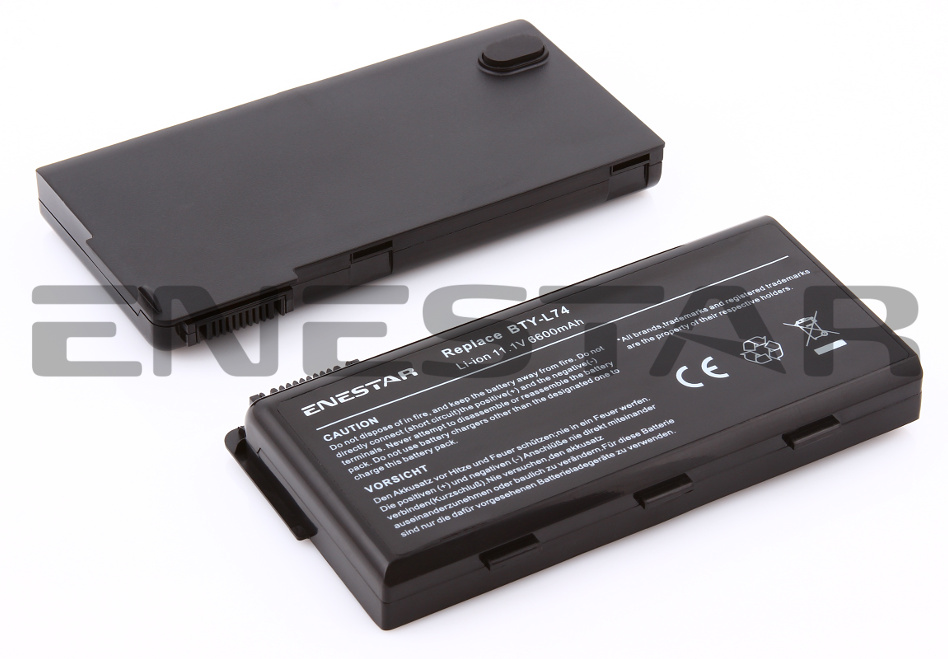 6600mah battery for msi bty l75 bty l74 91nms17ld4su1